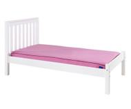 Maxtrix Twin Size Bed with Foot Panel White 2 | Maxtrix Furniture | MX-1150-WS