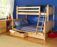 Maxtrix Components Angled Ladder for Twin over Full Bunk Bed | Maxtrix Furniture | MX-1463-X