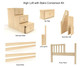 Maxtrix Components High Loft with Stairs Conversion Kit   25966   MX-1730-HIGH