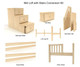 Maxtrix Components Mid Loft with Stairs Conversion Kit | 25968 | MX-1730-MID