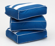 Maxtrix Back Pillows - Set of Three - Blue/White | Maxtrix Furniture | MX-3740-022
