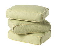 Maxtrix Back Pillows - Set of Three - Green/Soft Yellow | Maxtrix Furniture | MX-3740-024