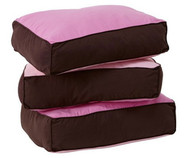 Maxtrix Back Pillows - Set of Three - Hot Pink/Brown | Maxtrix Furniture | MX-3740-073