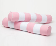 Maxtrix Bolsters - Pair - Soft Pink/White Stripe | Maxtrix Furniture | MX-3760-033