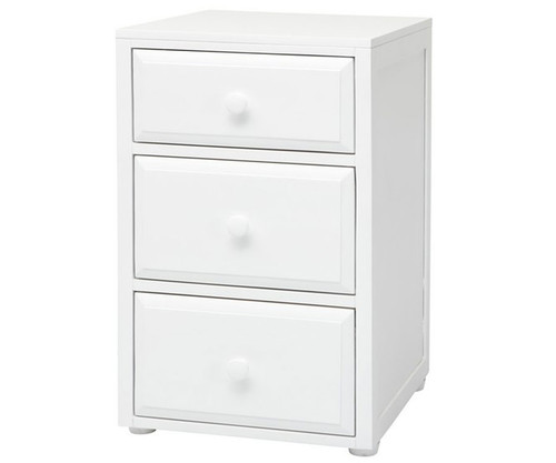 Maxtrix 3 Drawer Nightstand White | Maxtrix Furniture | MX-4235-W