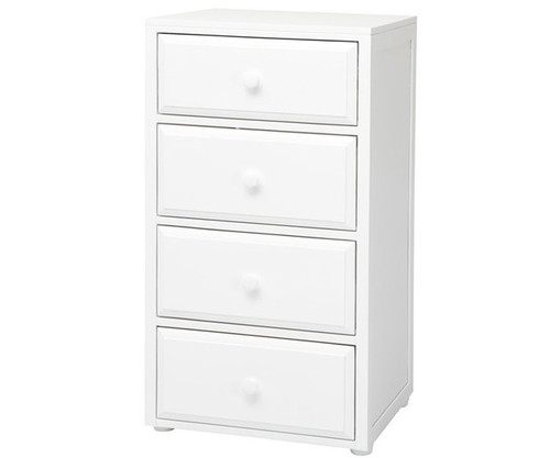 Maxtrix Narrow 4 Drawer Dresser White | Maxtrix Furniture | MX-4245-W