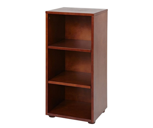 Maxtrix Narrow 3 Shelf Bookcase Chestnut | Maxtrix Furniture | MX-4725-C
