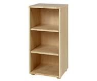 Maxtrix Narrow 3 Shelf Bookcase Natural | Maxtrix Furniture | MX-4725-N