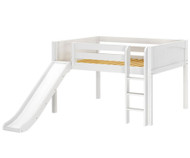 Maxtrix AMAZING Low Loft Bed with Slide Full Size White | Maxtrix Furniture | MX-AMAZING-WX