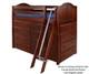 Maxtrix BLING Mid Loft Bed w/ Dressers Twin Size Chestnut | 26154 | MX-BLING-CX
