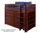 Maxtrix BLING Mid Loft Bed w/ Dressers & Bookcase Twin Size Chestnut   Maxtrix Furniture   MX-BLING2-CX