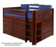 Maxtrix BOX Low Loft Bed w/ Dressers Twin Size White | Maxtrix Furniture | MX-BOX-WX