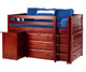 Maxtrix BOX Storage Low Loft Bed with Desk Twin Size Chestnut 1 | 26169 | MX-BOX1L-CX