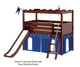 Maxtrix CAMELOT Castle Low Loft Bed with Slide Twin Size Chestnut 1 | 26190 | MX-CAMELOT7-CX