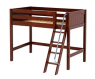 Maxtrix CHAP Mid Loft Bed Twin Size Chestnut | Maxtrix Furniture | MX-CHAP-CX