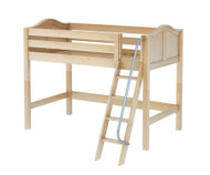 Maxtrix CHAP Mid Loft Bed Twin Size Natural | Maxtrix Furniture | MX-CHAP-NX
