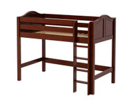 Maxtrix CHIP Mid Loft Bed Twin Size Chestnut | Maxtrix Furniture | MX-CHIP-CX