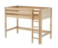 Maxtrix CHIP Mid Loft Bed Twin Size Natural | Maxtrix Furniture | MX-CHIP-NX