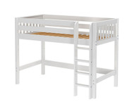 Maxtrix CHIP Mid Loft Bed Twin Size White | Maxtrix Furniture | MX-CHIP-WX