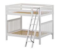 Maxtrix CHUFF High Bunk Bed Full Size White | Maxtrix Furniture | MX-CHUFF-WX