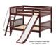 Maxtrix CLIFF Low Bunk Bed w/ Slide Full Size Chestnut | 26206 | MX-CLIFF-CX