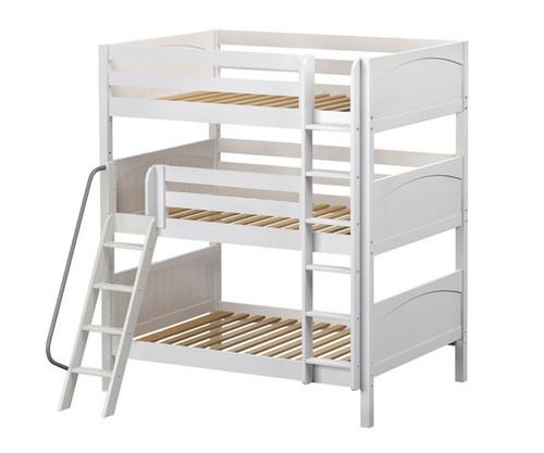 Maxtrix COMPLEX Triple Bunk Bed Full Size White | Maxtrix Furniture | MX-COMPLEX-WX