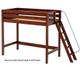 Maxtrix DUNK High Loft Bed Twin Size Chestnut | 26231 | MX-DUNK-CX