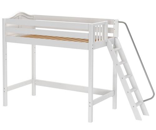 Maxtrix DUNK High Loft Bed Twin Size White   Maxtrix Furniture   MX-DUNK-WX