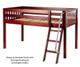 Maxtrix EASY RIDER Low Loft Bed Twin Size Chestnut   26234   MX-EASYRIDER-CX