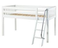 Maxtrix EASY RIDER Low Loft Bed Twin Size White | Maxtrix Furniture | MX-EASYRIDER-WX