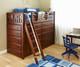 Maxtrix EMPEROR High Loft Bed Twin Size Chestnut | Maxtrix Furniture | MX-EMPEROR-CX