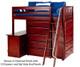 Maxtrix EMPEROR High Loft Bed with Desk Twin Size Chestnut   Maxtrix Furniture   MX-EMPEROR1L-CX