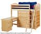 Maxtrix EMPEROR High Loft Bed with Desk Twin Size Natural   Maxtrix Furniture   MX-EMPEROR3L-NX