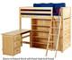 Maxtrix EMPEROR High Loft Bed with Desk Twin Size White | Maxtrix Furniture | MX-EMPEROR3L-WX