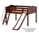 Maxtrix FANTASTIC Low Loft Bed with Slide Full Size Chestnut | Maxtrix Furniture | MX-FANTASTIC-CX