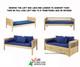Maxtrix FANTASTIC Castle Low Loft Bed with Slide Full Size Natural 1 | Maxtrix Furniture | MX-FANTASTIC22-NX