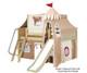 Maxtrix FANTASTIC Castle Low Loft Bed with Slide Full Size Chestnut 7 | Maxtrix Furniture | MX-FANTASTIC30-CX