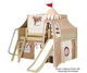 Maxtrix FANTASTIC Castle Low Loft Bed with Slide Full Size White 2 | 26270 | MX-FANTASTIC30-WX