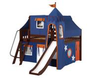 Maxtrix FANTASTIC Castle Low Loft Bed with Slide Full Size Chestnut 8 | Maxtrix Furniture | MX-FANTASTIC42-CX