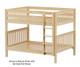 Maxtrix FIT Medium Bunk Bed Full Size Natural | 26288 | MX-FIT-NX
