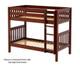 Maxtrix GETIT Medium Bunk Bed Twin Size Chestnut | 26298 | MX-GETIT-CX