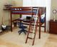Maxtrix GIANT High Loft Bed with Desk Full Size Chestnut | Maxtrix Furniture | MX-GIANT1-CX