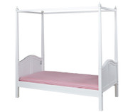 Maxtrix GOLDILOCKS Princess Poster Bed Twin Size White | Maxtrix Furniture | MX-GOLDILOCKS-WX
