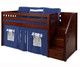 Maxtrix Low Loft Bed with Staircase - Chestnut | Matrix Furniture | MX-GREAT-CS