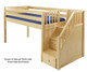 Maxtrix GREAT Low Loft Bed with Stairs Twin Size White   Maxtrix Furniture   MX-GREAT-WX