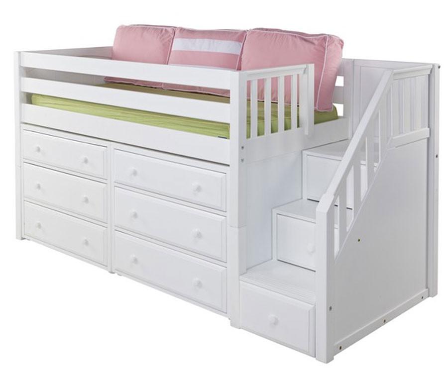 Maxtrix Great3 Storage Low Loft Bed With Stairs Matrix Kids