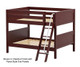 Maxtrix GULP Low Bunk Bed Full Size Chestnut | 26335 | MX-GULP-CX
