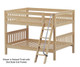 Maxtrix GULP Low Bunk Bed Full Size Chestnut | Maxtrix Furniture | MX-GULP-CX