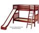 Maxtrix HAPPY Medium Bunk Bed w/ Slide Twin Size Chestnut   Maxtrix Furniture   MX-HAPPY-CX