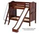Maxtrix HAPPY Medium Bunk Bed w/ Slide Twin Size Chestnut   26338   MX-HAPPY-CX